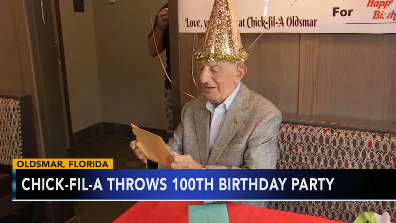 Chcik-fil-A throws 100th birthday party. Jeannette Reyes reports during Action News Mornings on September 24, 2018.