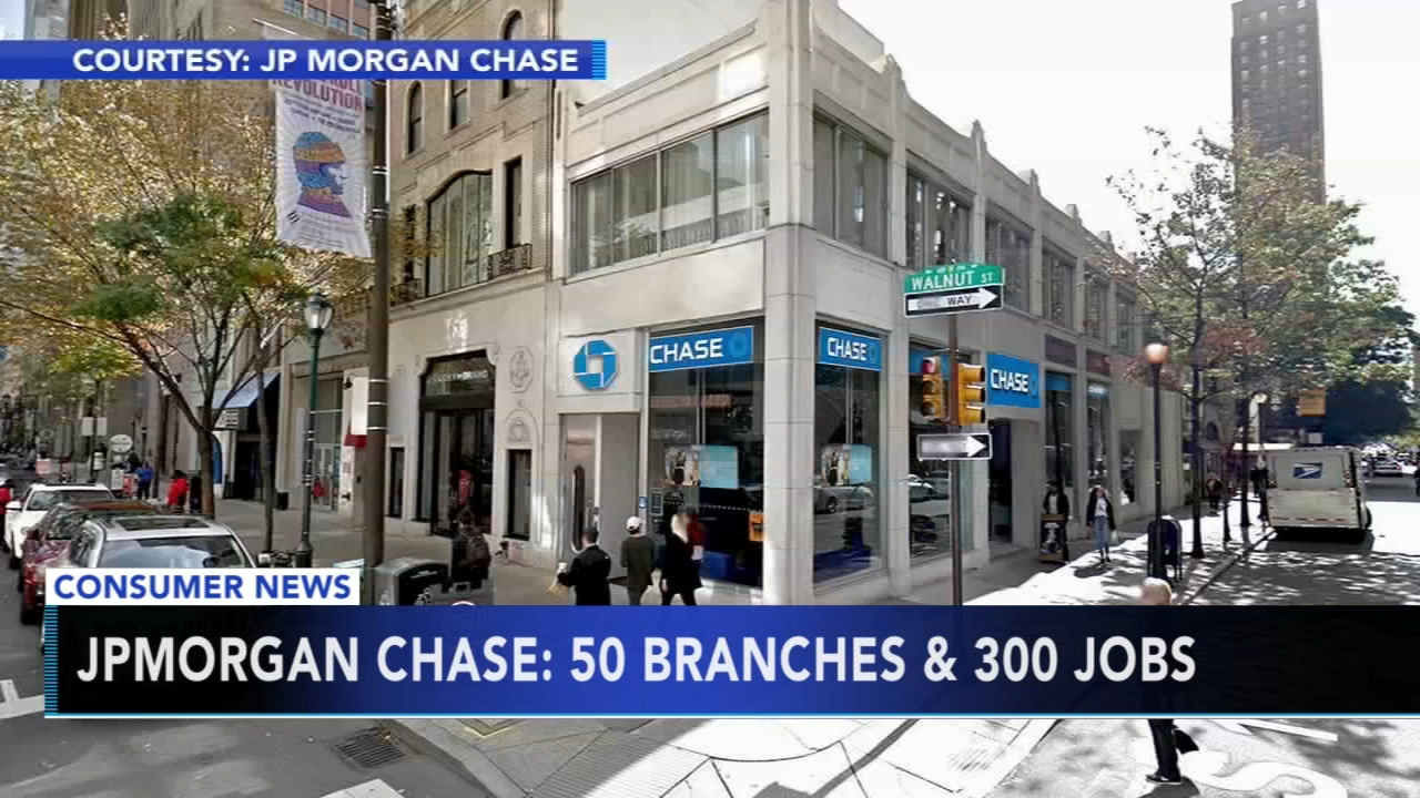 The countrys biggest bank, JP Morgan Chase, plans to move into the Philadelphia area, as reported during Action News at 11 on September 24, 2108.
