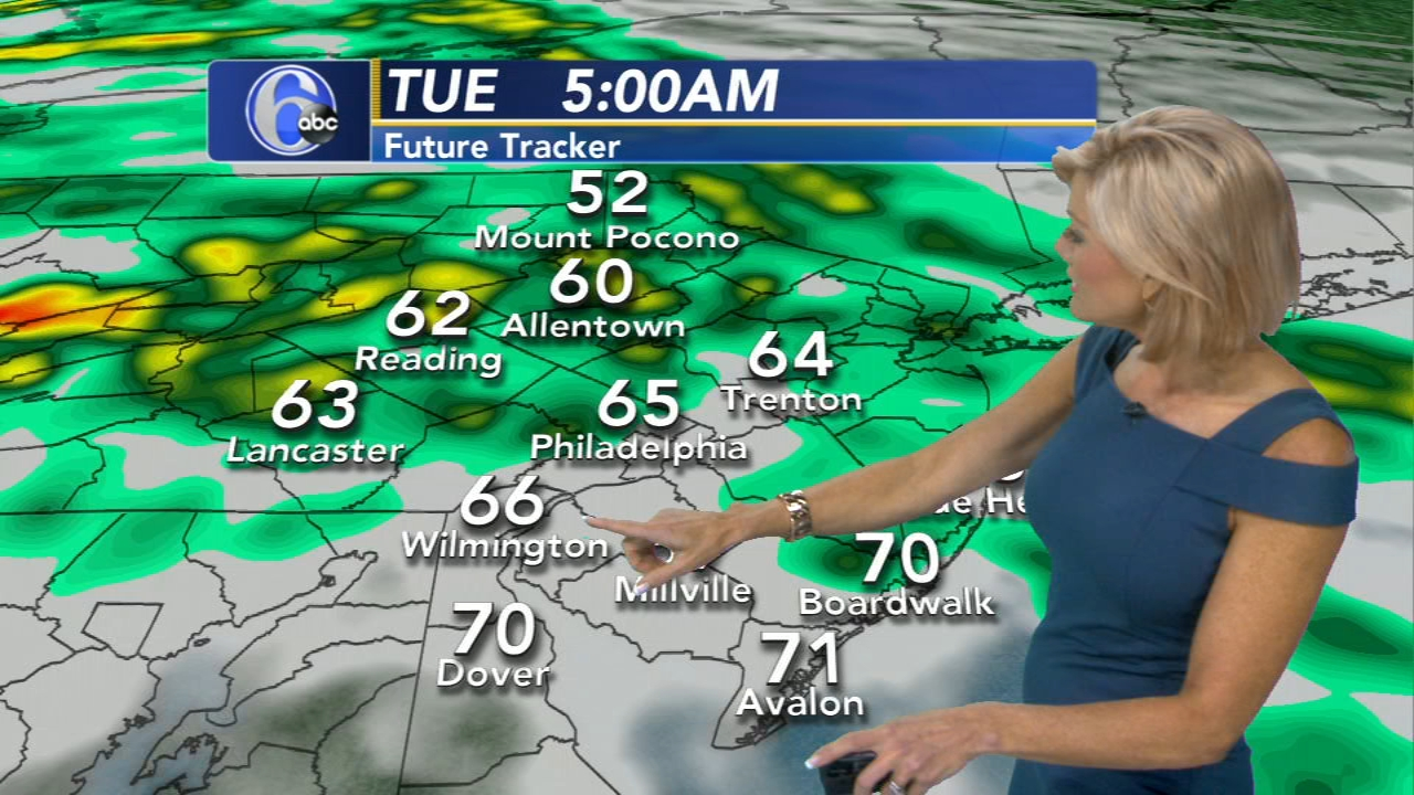 Cecily Tynan with AccuWeather on Action News at 6 p.m., September 24, 2018.