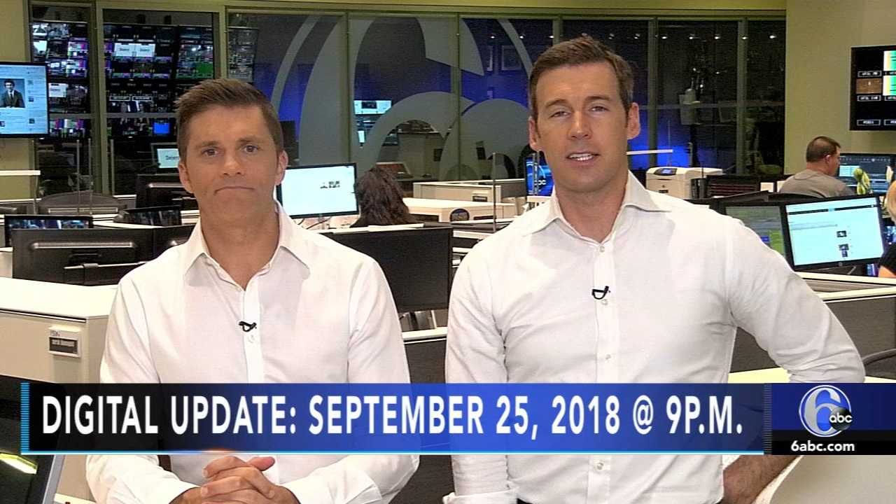 Brian Taff reports, and meteorologist Adam Joseph has the latest from AccuWeather, during the Action News Update at 9 p.m. on September 25, 2018.