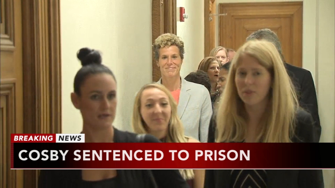 Accusers react to Bill Cosby sentencing. Watch the report from Walter Perez on Action News at 5:30 p.m. on September 25, 2018.
