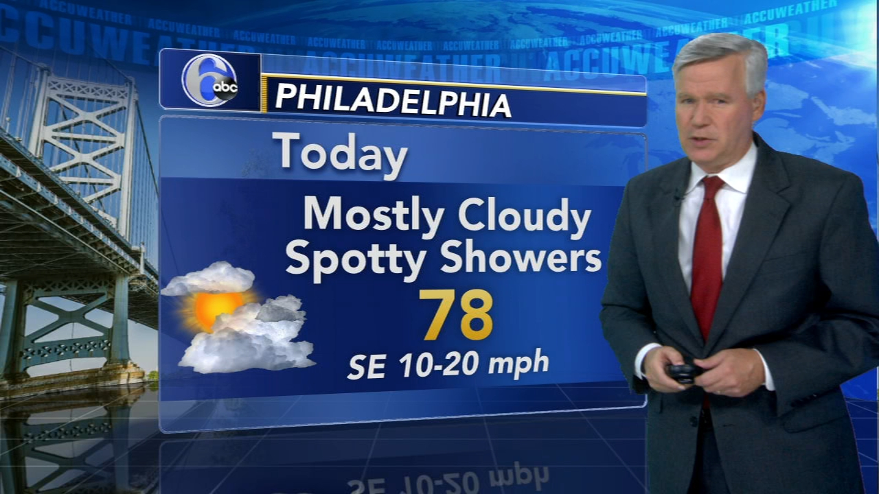 David Murphy with AccuWeather during Action News at noon on September 25, 2018.