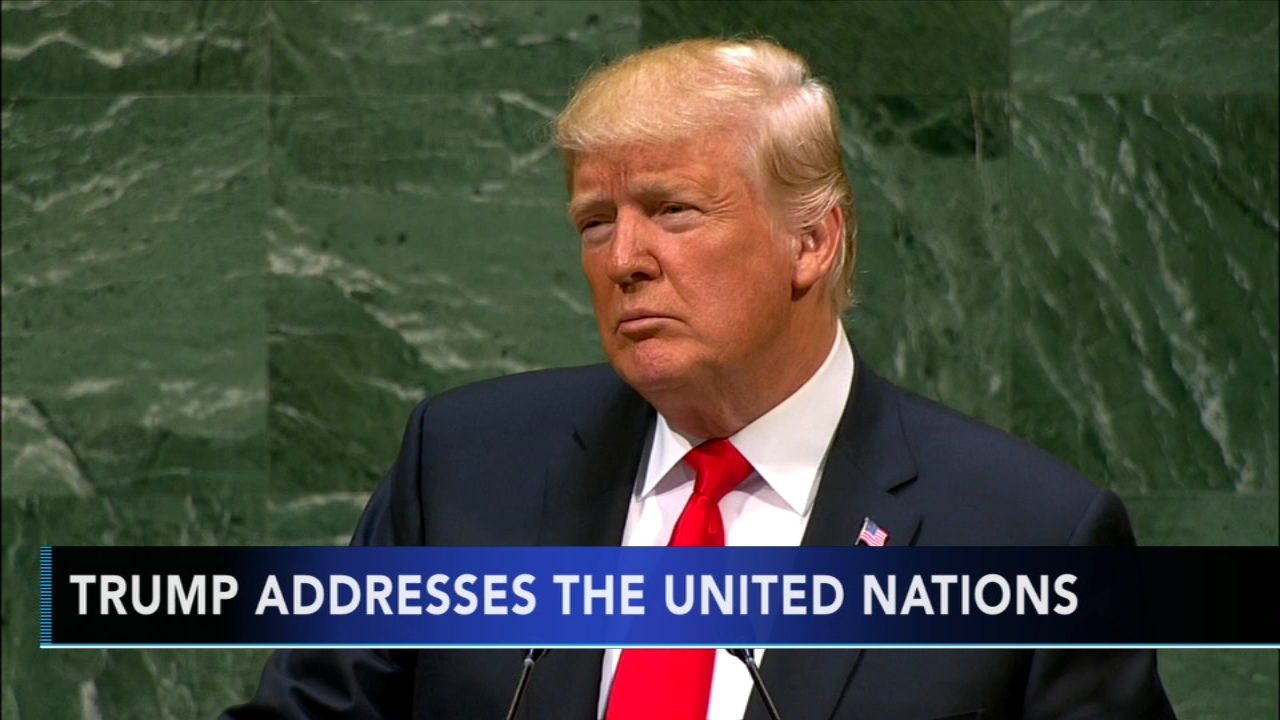 Trump boasts of Americas might, draws headshakes at UN - ABCs Maggie Rulli reports during Action News at noon on September 25, 2018.