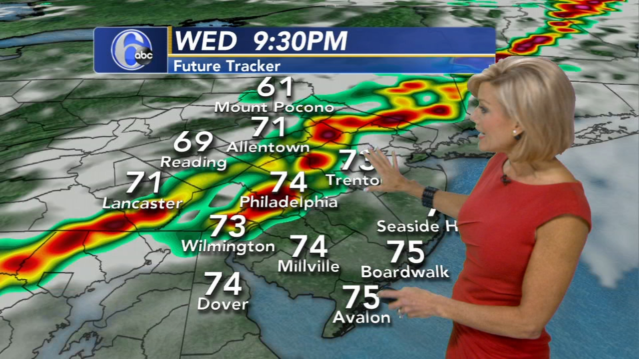 Cecily Tynan with AccuWeather on Action News at 6 p.m., September 25, 2018.
