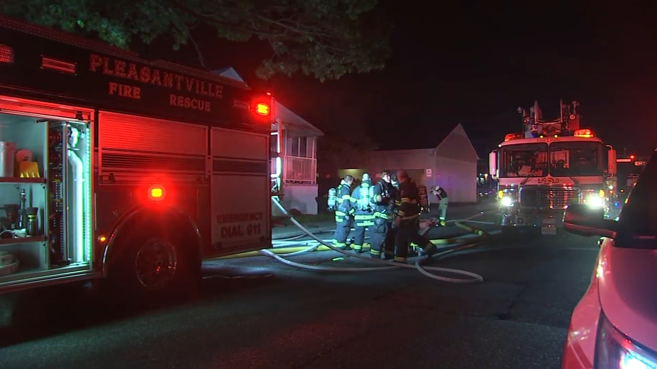 2-alarm fire in Pleasantville, N.J. Gray Hall reports during Action News Mornings on September 26, 2018.