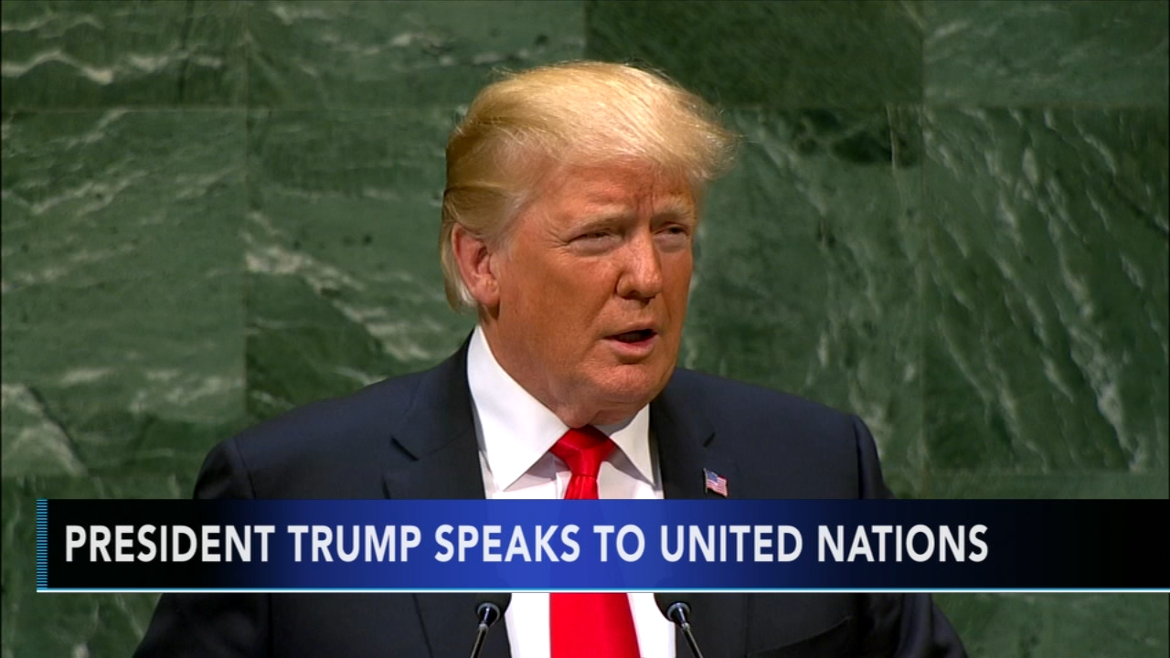 President Trump speaks at U.N. Tamala Edwards reports during Action News Mornings on September 26, 2018.