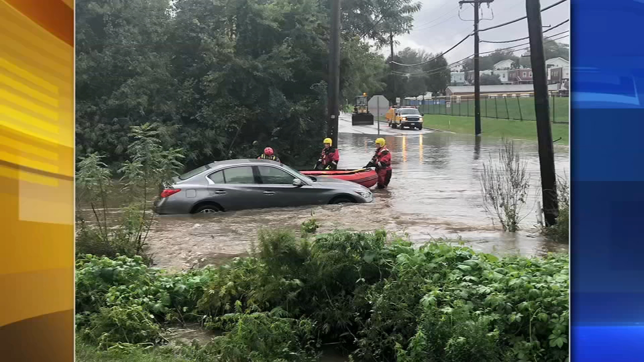 Water rescue in West Chester, Pa. Gray Hall reports during Action News Mornings on September 26, 2018.