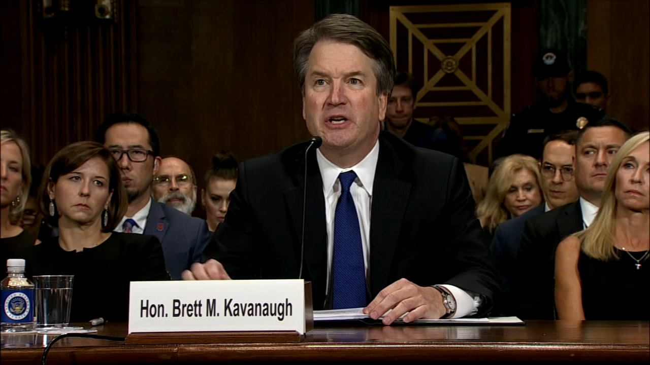 Christine Blasey Ford declared Thursday that Brett Kavanaugh sexually assaulted her as reported by Dann Cuellar during Action News at 11 on September 27, 2018.