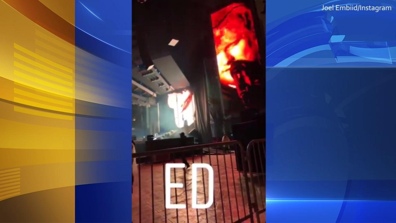 Joel Embiid rocks out at Ed Sheeran concert on September 27, 2018. (Credit: Joel Embiid/Instagram)