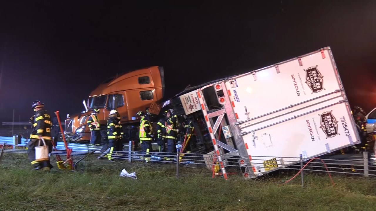 4 tractor-trailers collide on I-78, 1 person seriously injured. Monica Malpass reports during Action News at 5:30 p.m. on September 28, 2018.
