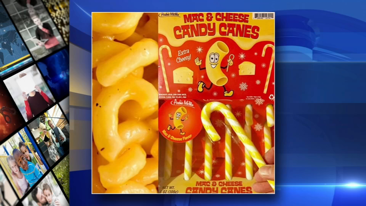 Mac-and-cheese flavored candy canes to hit shelves in time for the holidays. Alicia Vitarelli reports during Action News at 4 p.m. on September 28, 2018.
