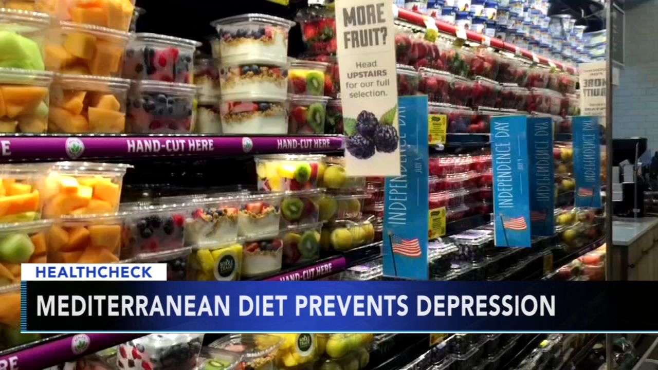 Study shows Mediterranean diet could help prevent depression. Gray Hall reports during Action News at 7 a.m. on September 29, 2018.