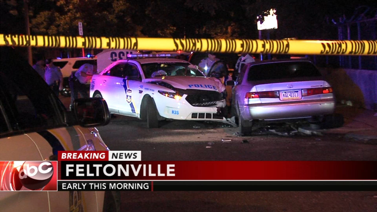 3 people, including 2 officers, injured in crash in Feltonville. Gray Hall reports during Action News at 6 a.m. on September 29, 2018.