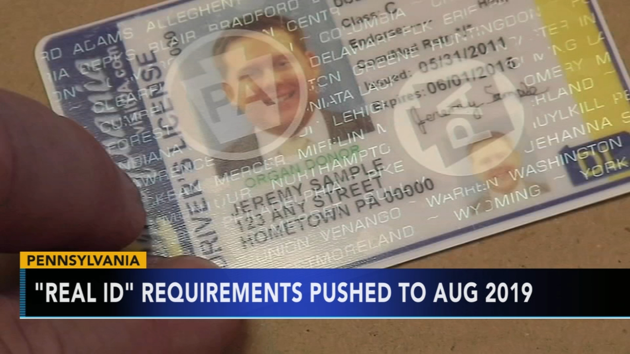 Pennsylvania Real ID requirements pushed to August 2019. Gray Hall reports during Action News at 6 a.m. on September 29, 2018.