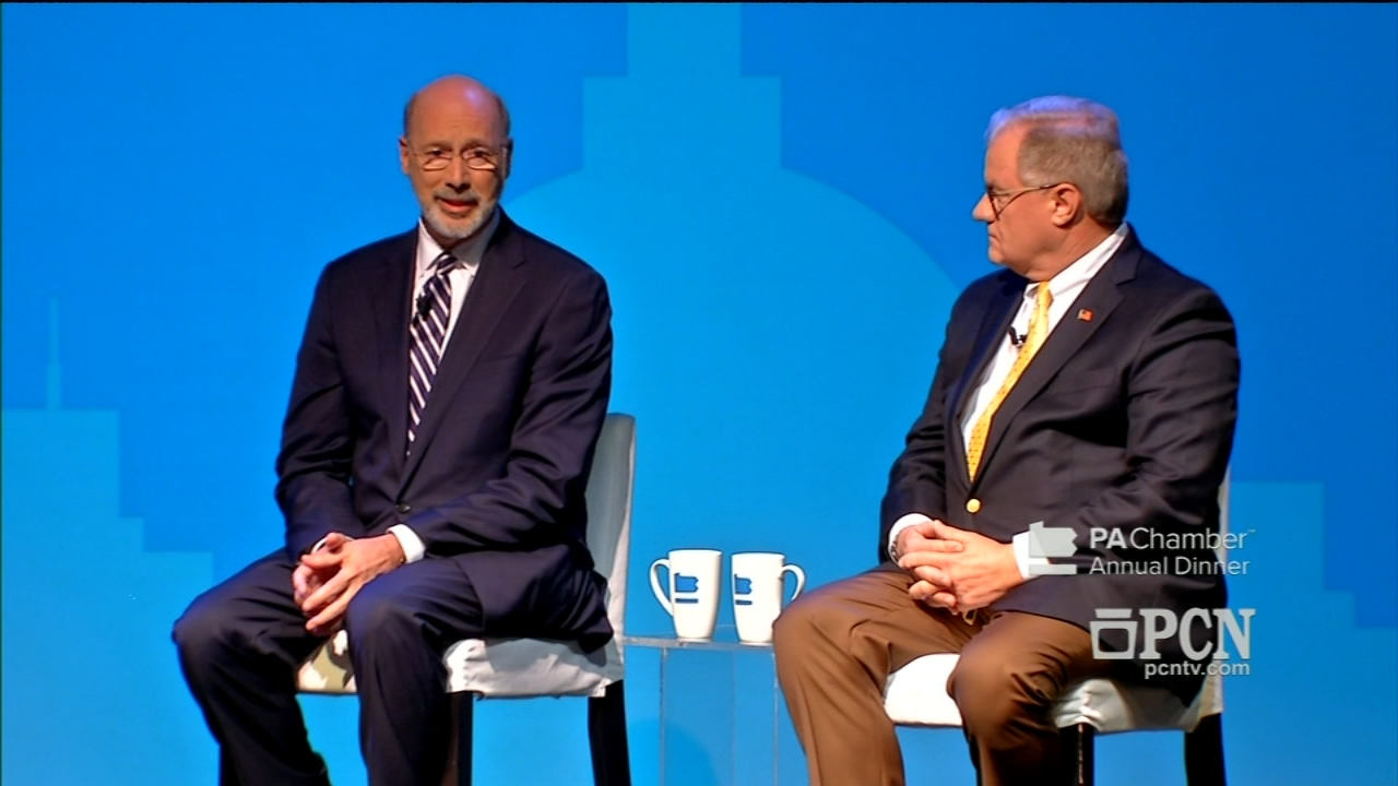 Pennsylvanias Democratic governor and his Republican challenger meet as reported by Brian Taff during Action News at 11 on October 1, 2018.