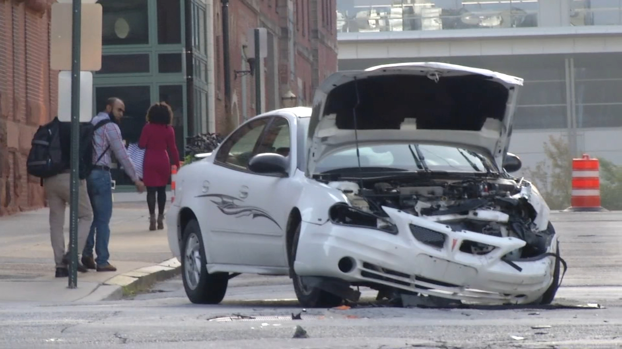 Car driver injured after crash with ambulance in Wilmington. See raw video from the Action Cam from October 1, 2018.