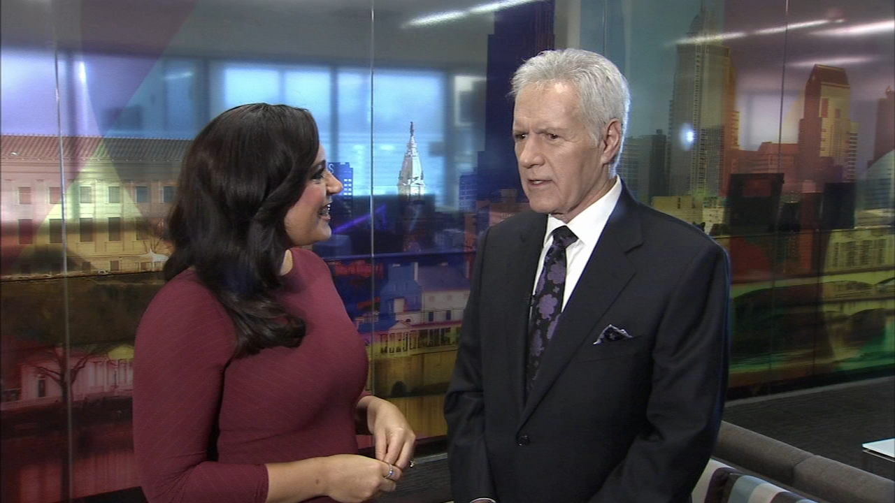 Jeopardy host, Alex Trebek visits 6abc studios in Philadelphia. Alicia Vitarelli reports during Action News at 4:30 p.m. on October 2, 2018.