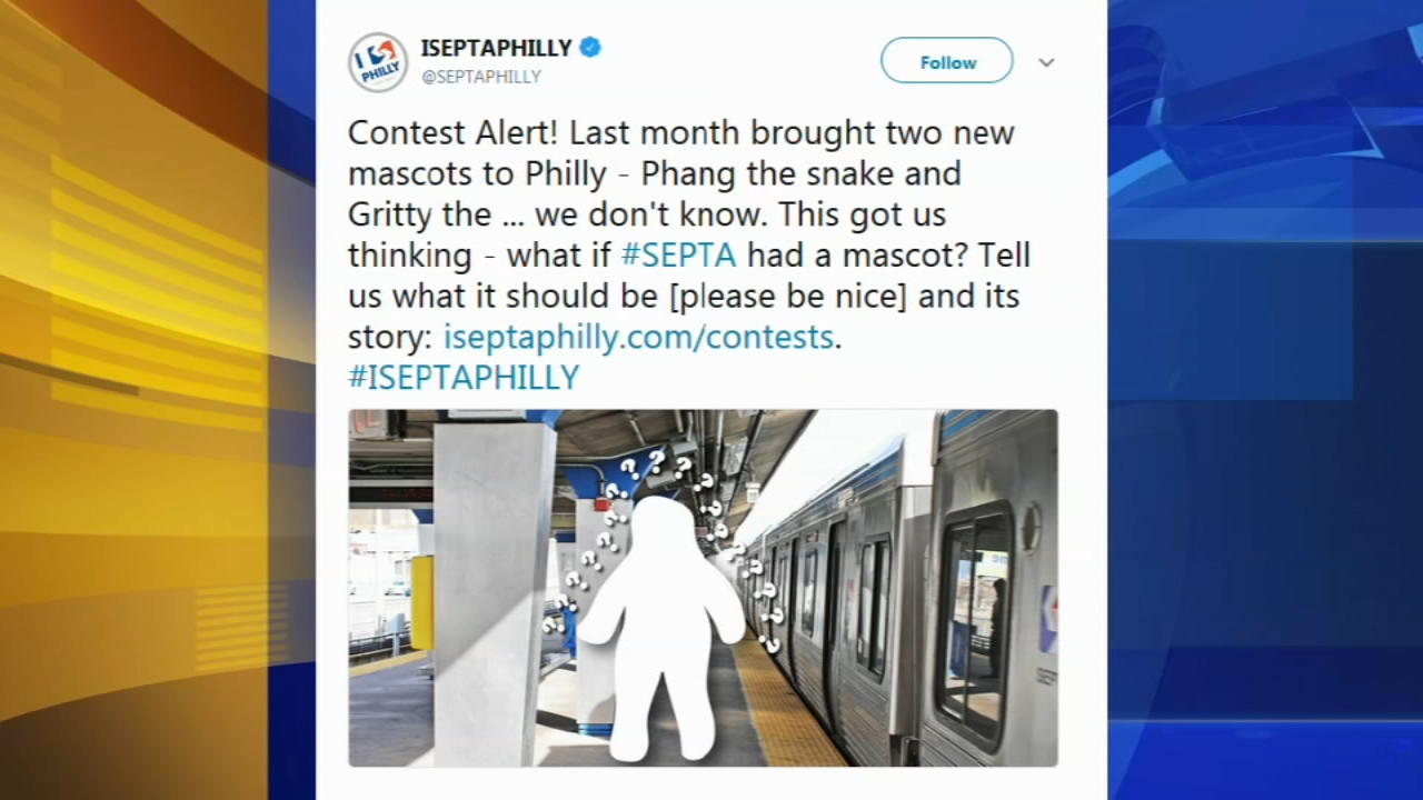 SEPTA looking for its mascot. Tamala Edwards reports during Action News Mornings on October 2, 2018.