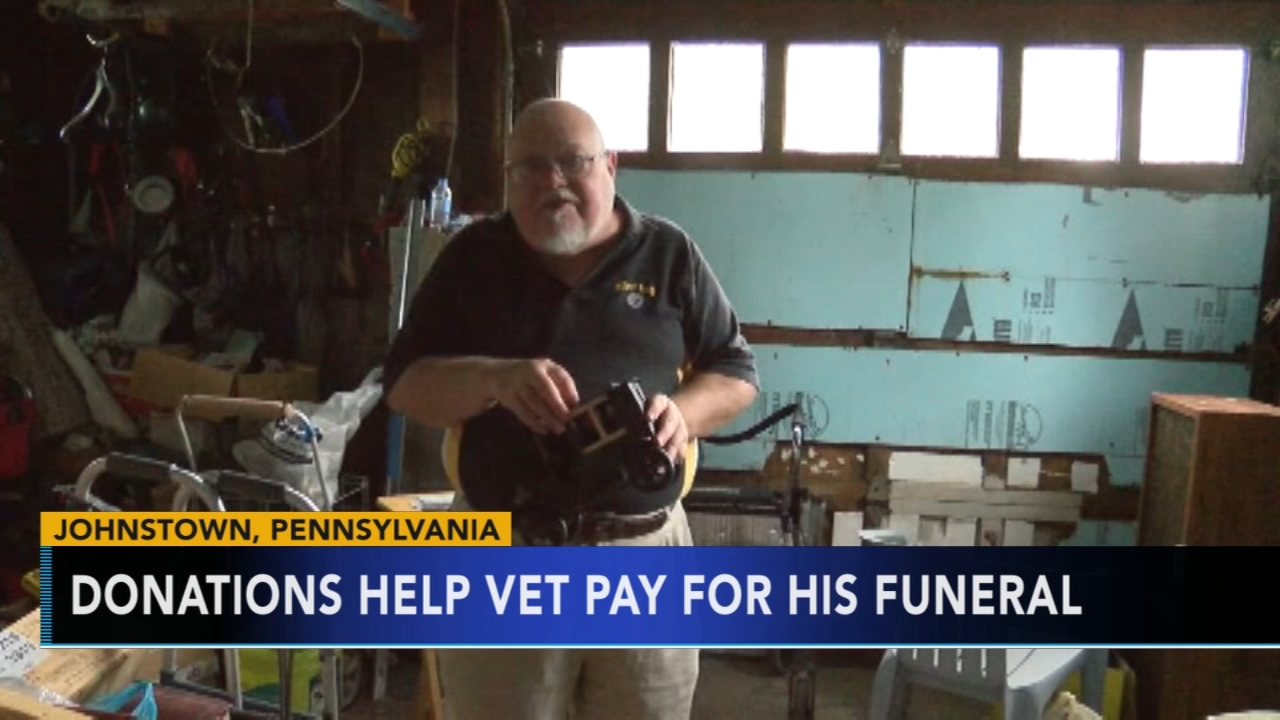 Donations help vet pay for his funeral. Matt ODonnell reports during Action News Mornings on October 2, 2018.