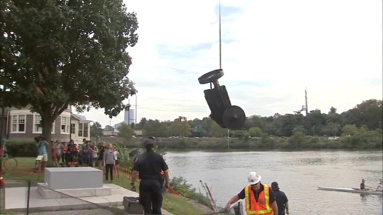 Vandalized viking statue pulled from the river: Sarah Bloomquist reports on Action News at 6 p.m., October 2, 2018