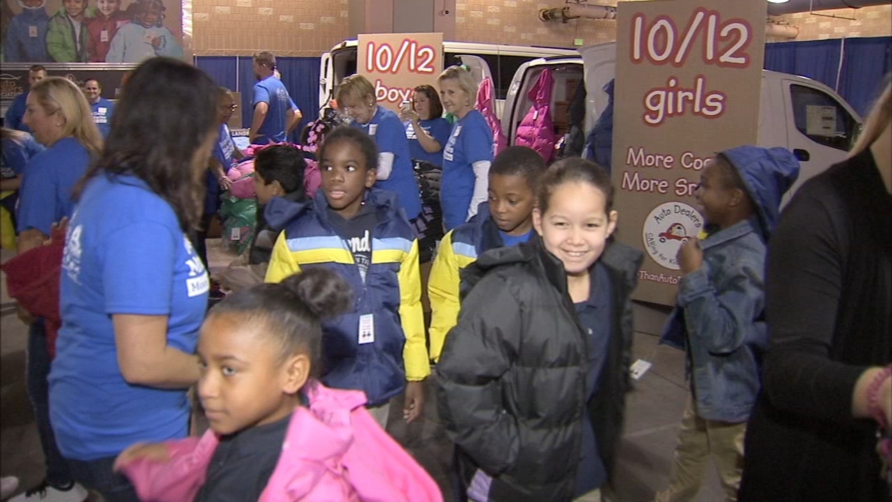 Thousands of Philly students benefit from annual coat drive. Katherine Scott reports during Action News at 6 p.m. on October 3, 2018.