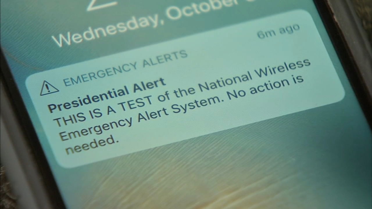 Presidential Alert: System test sent to phones nationwide. Walter Perez reports during Action News at 4:30pm on October 3, 2018.