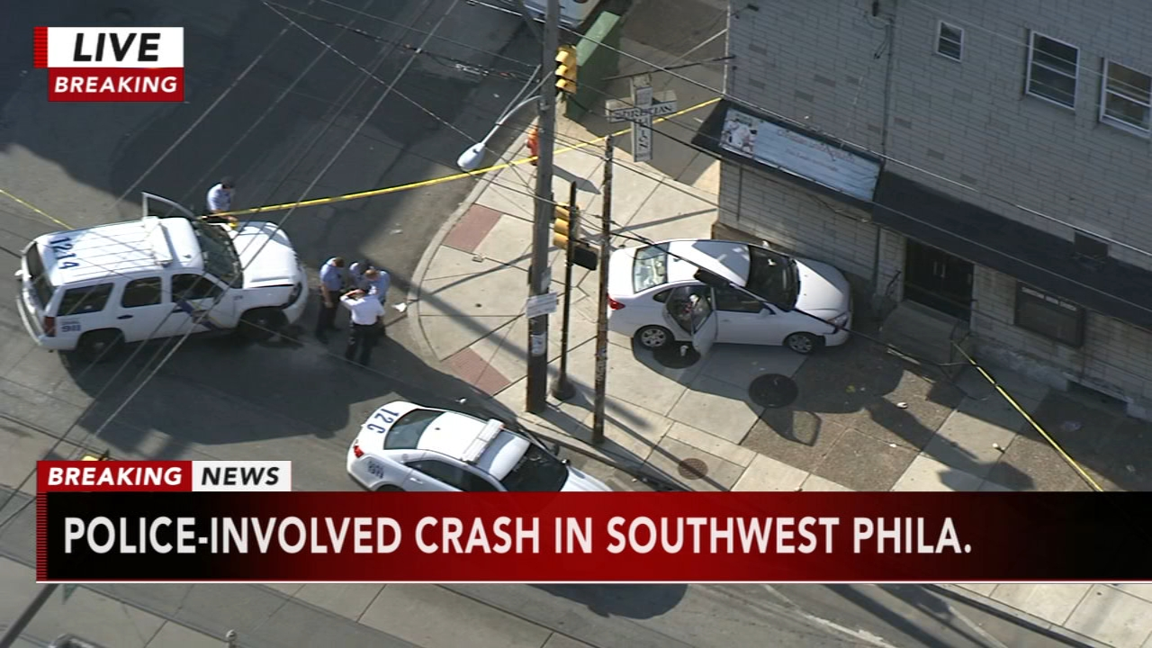 Police SUV and civilian vehicle collide in Southwest Philadelphia. Brian Taff reports during Action News at 4 p.m. on October 3, 2018.