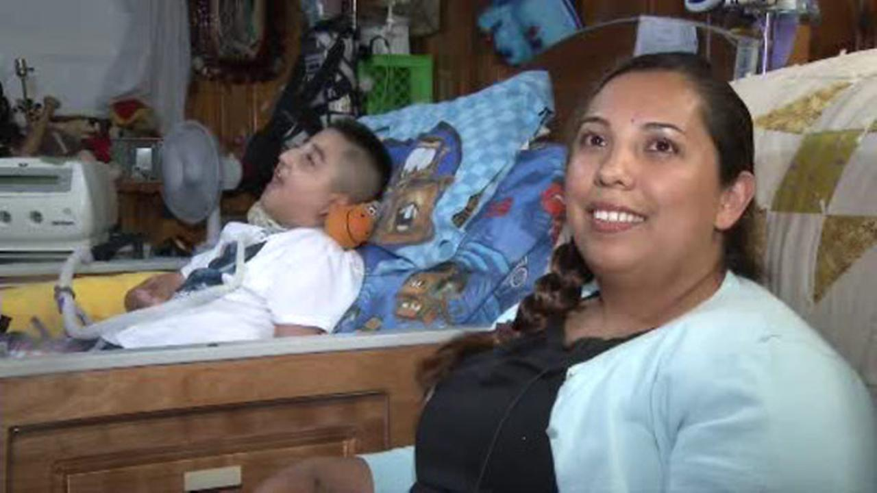 10-year-old Christopher Garcia and his mother Nancy Lemus