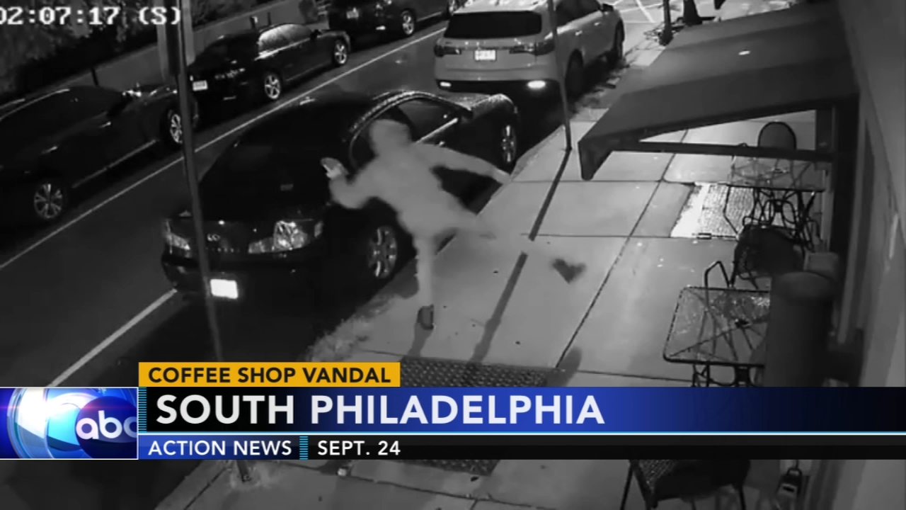 Vandal throws brick at coffee shop again and again. Matt ODonnell reports during Action News Mornings on October 5, 2018.