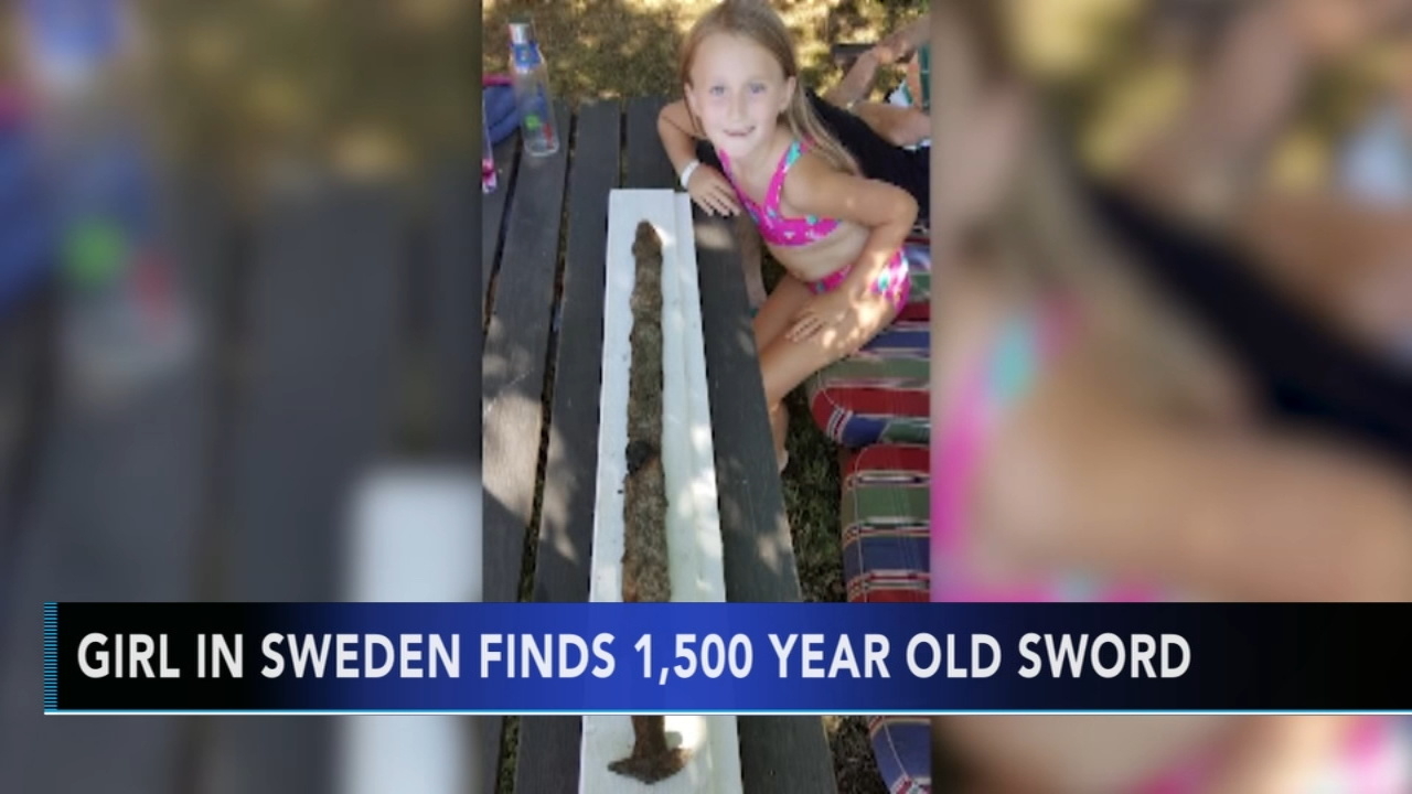 Swedish girl pulls out pre-Viking era sword from lake. Sharrie Williams reports during Action News at 4 p.m. on October 5, 2018.