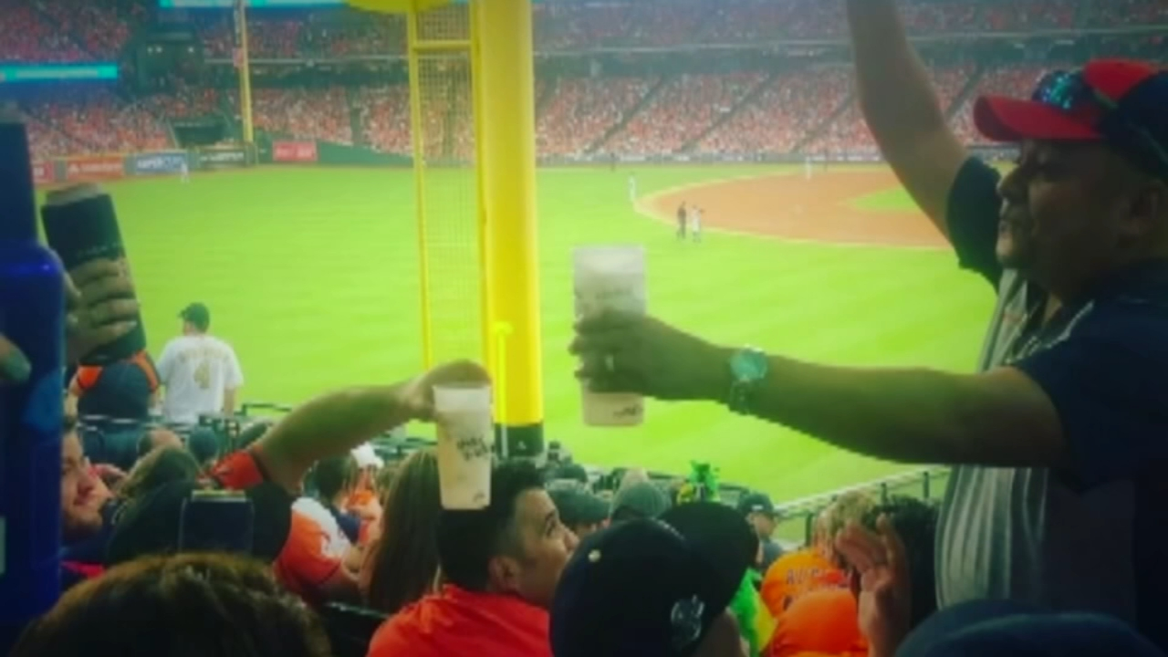 Astros fan buys beers for entire section after George Springer hits home run. Gray Hall reports during Action News at 7 a.m. on October 6, 2018.