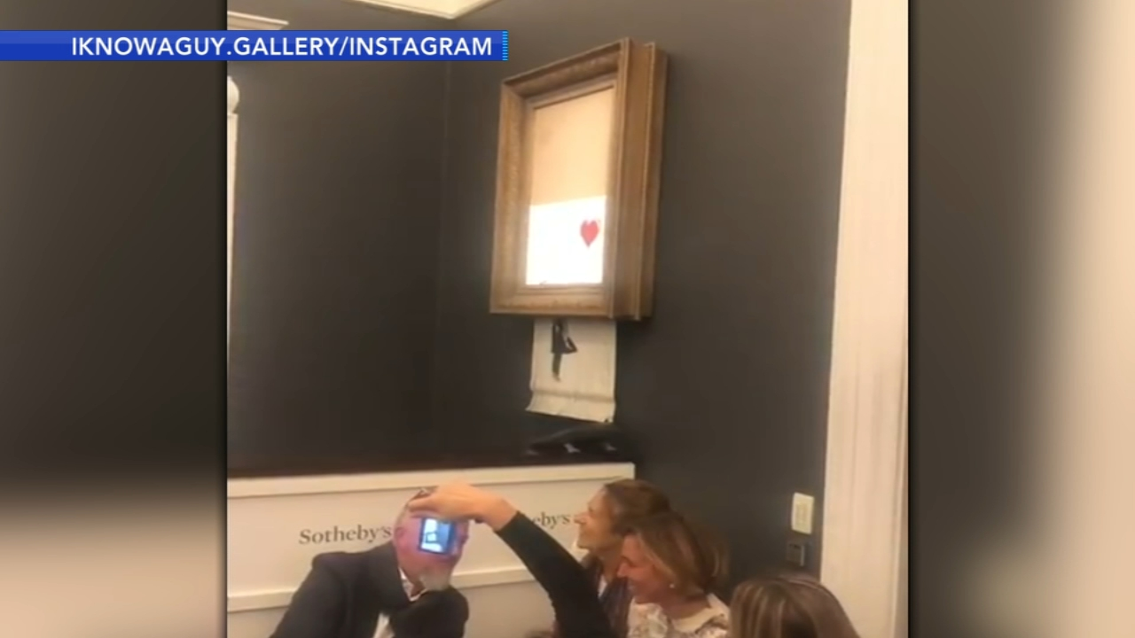 Banksy artwork self-destructs moment after $1.4 million sale. Gray Hall reports during Action News at 9 a.m. on October 6, 2018.