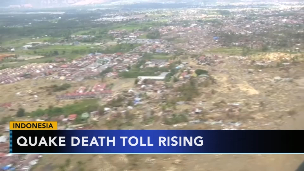 Indonesia earthquake and tsunami death toll climbs to over 1,700. Gray Hall reports during Action News at 6 a.m. on October 7, 2018.