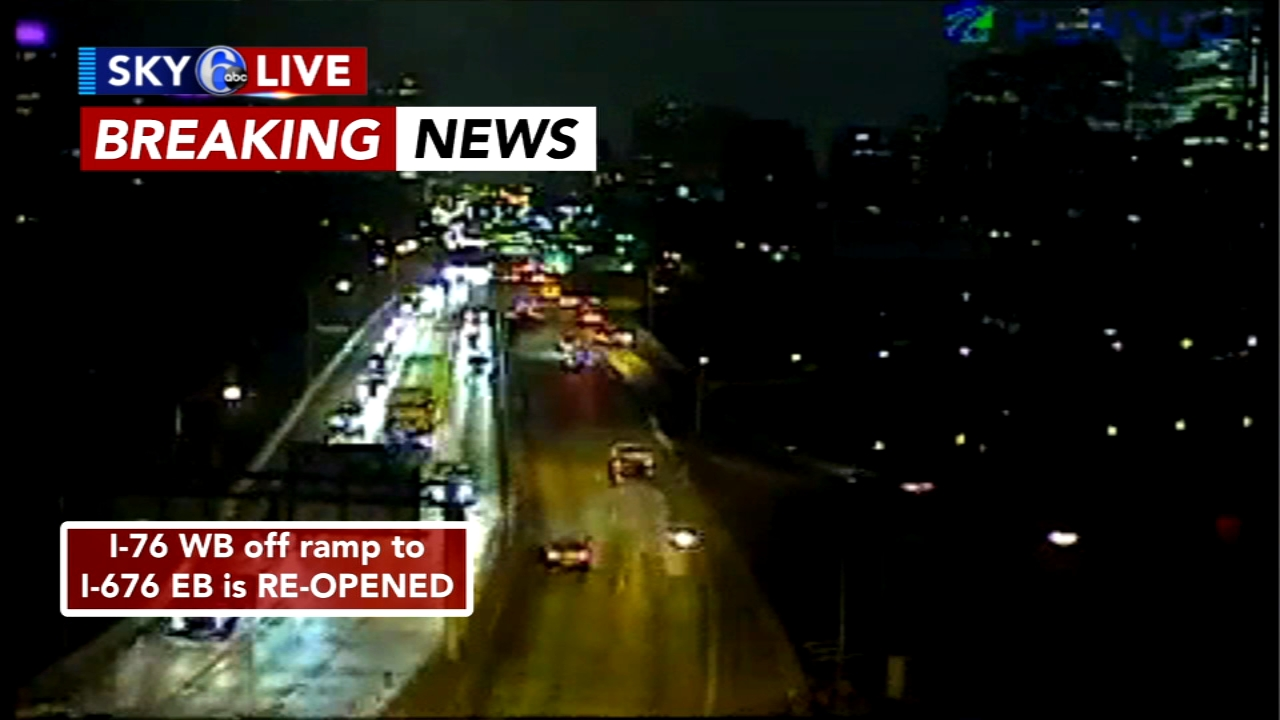 I-76 off ramp reopens after crash. Karen Rogers reports during Action News Mornings on October 8, 2018.