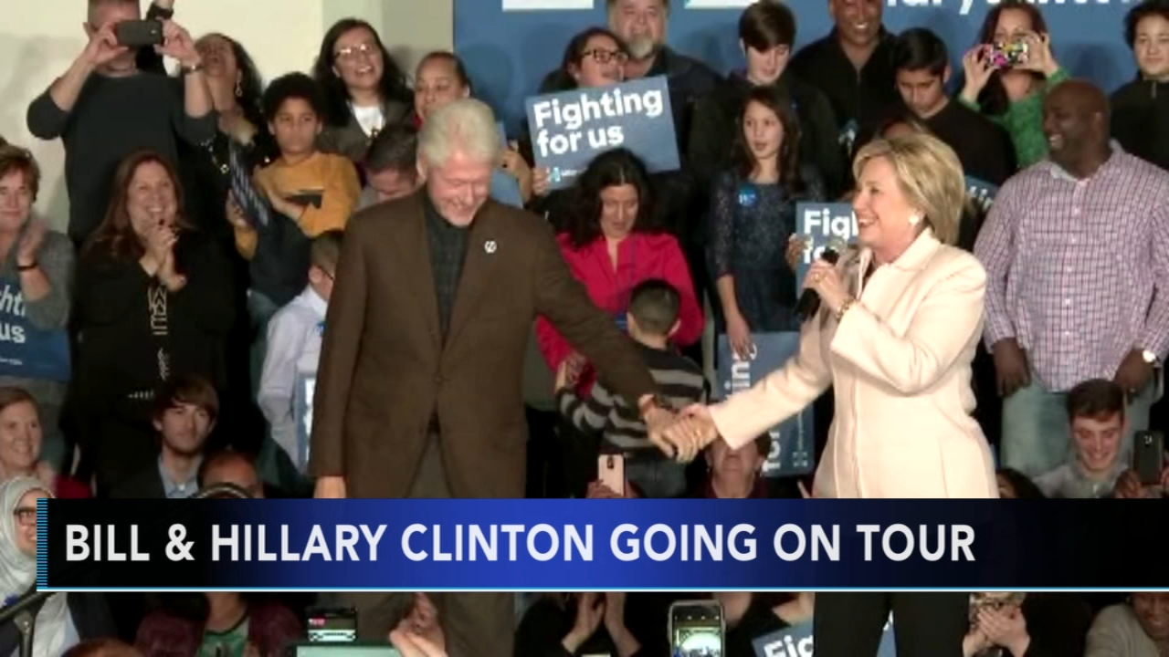 Bill and Hillary Clinton to tour; will stop in Philly: As seen on Action News at 5 p.m., October 8, 2018.