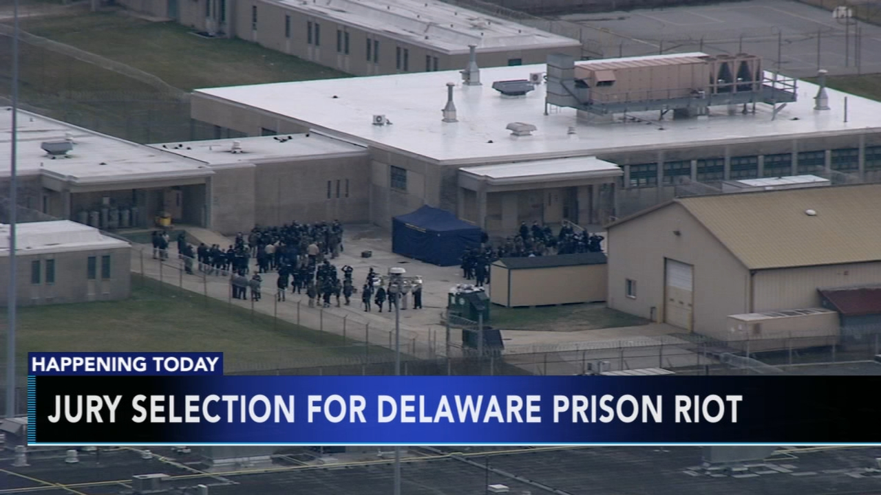 Jury selection for Delaware prison riot. Tamala Edwards reports during Action News Mornings on October 8, 2018.