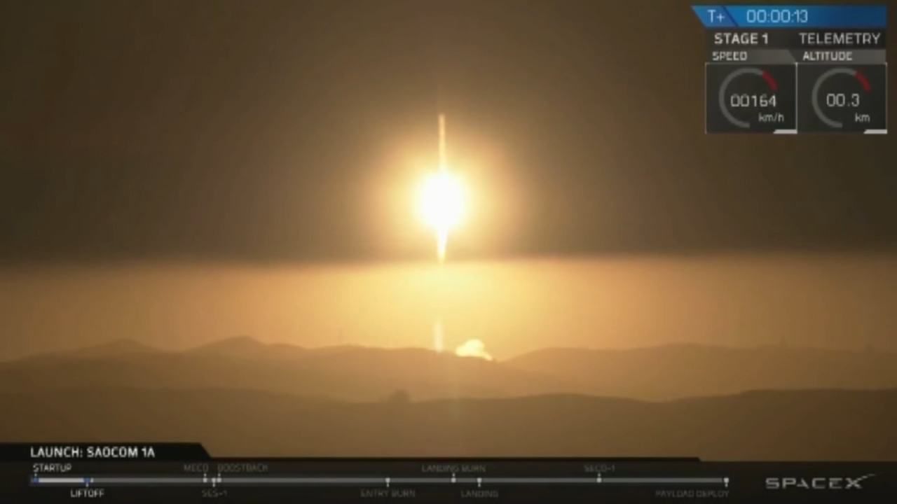 Rocket carrying Argentinian satellite takes off successfully. Tamala Edwards reports during Action News Mornings on October 8, 2018.