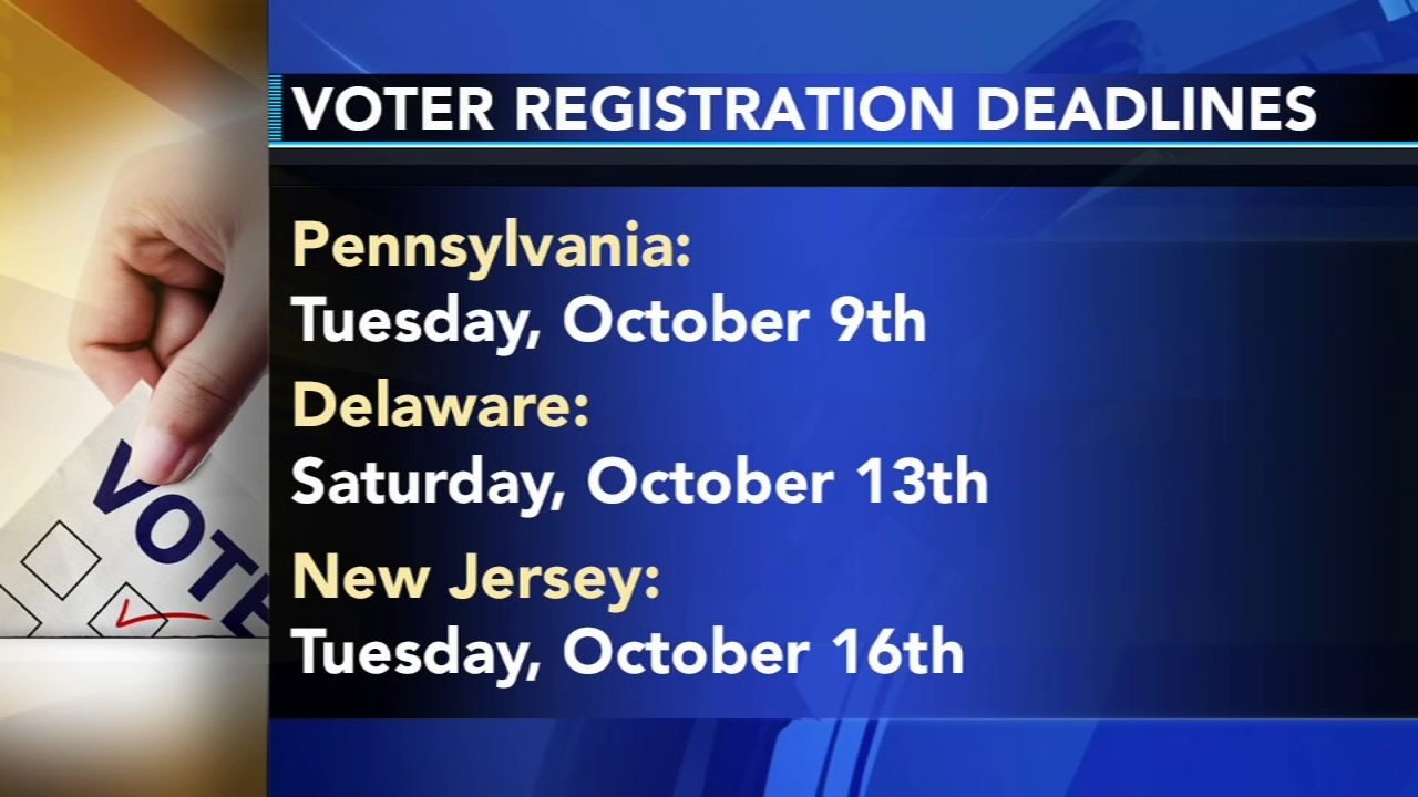 Voter registration deadlines. Tamala Edwards reports during Action News Mornings on October 8, 2018.