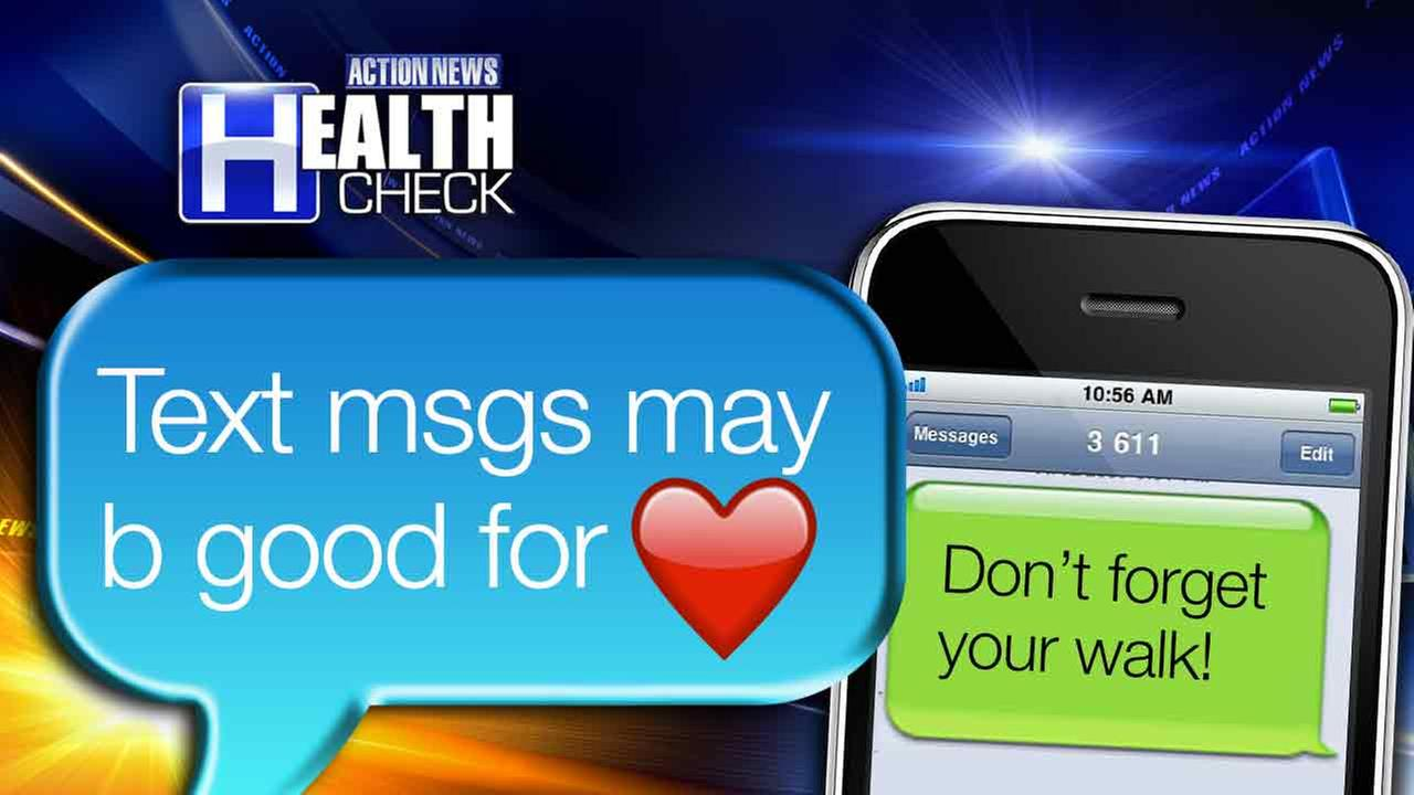 Text messages may be good for your heart