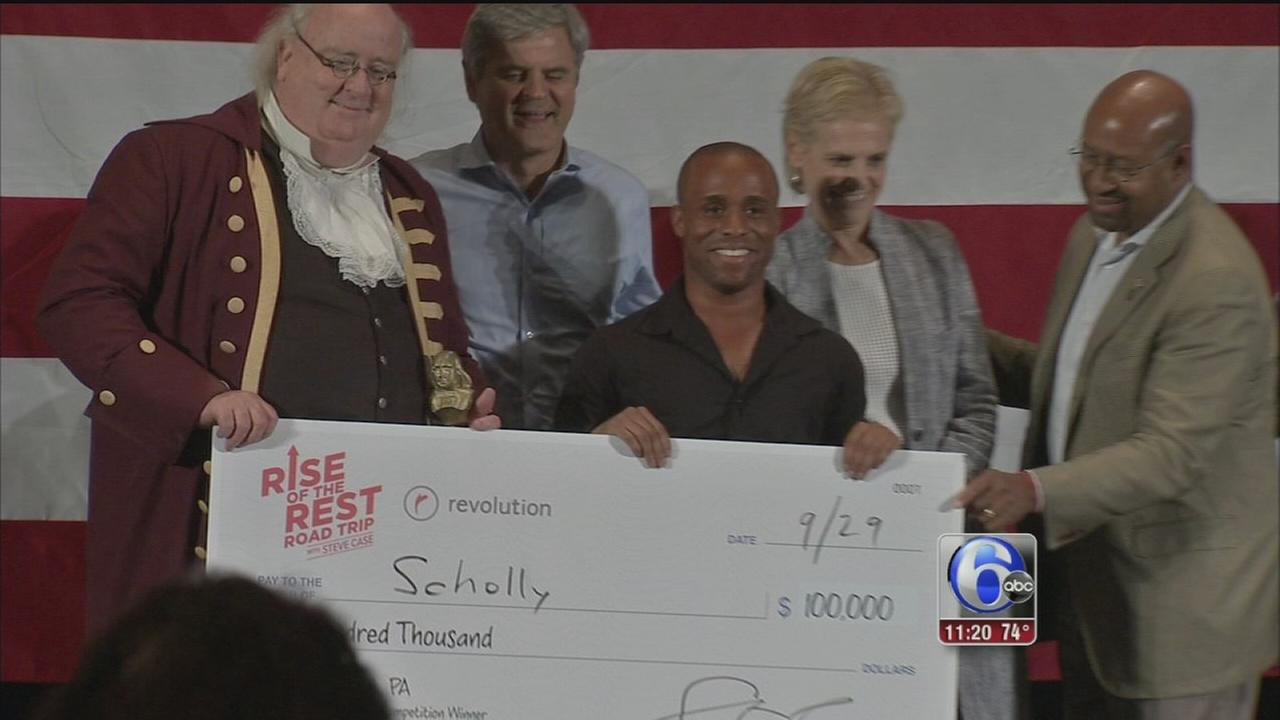VIDEO: Local entrepreneur wins big at AOL founders pitch competition