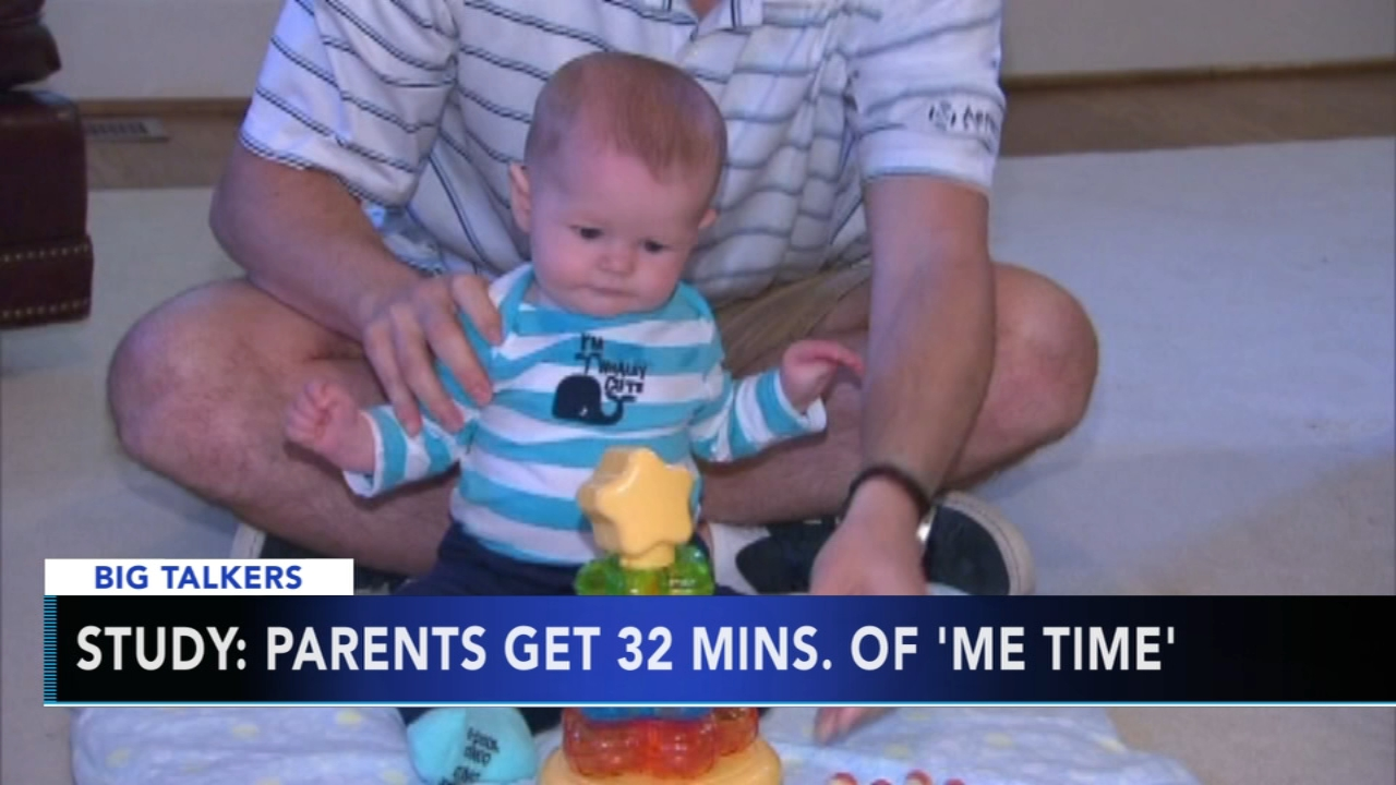 Study: Parents only get 32 minutes of me time per day. Watch the report from Action News at 4:30 p.m. on October 9, 2018.