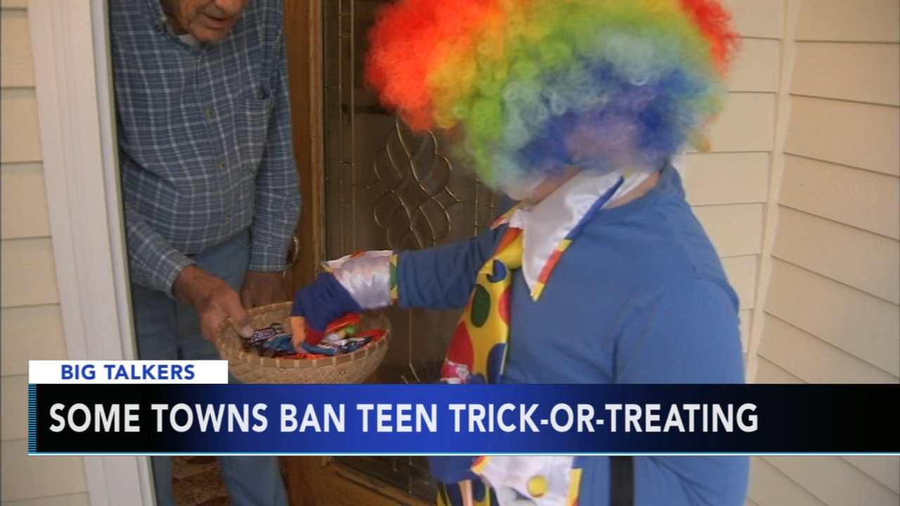 Some towns ban teen trick-or-treating. Watch the report from Action News at 430 p.m. on October 9, 2018.
