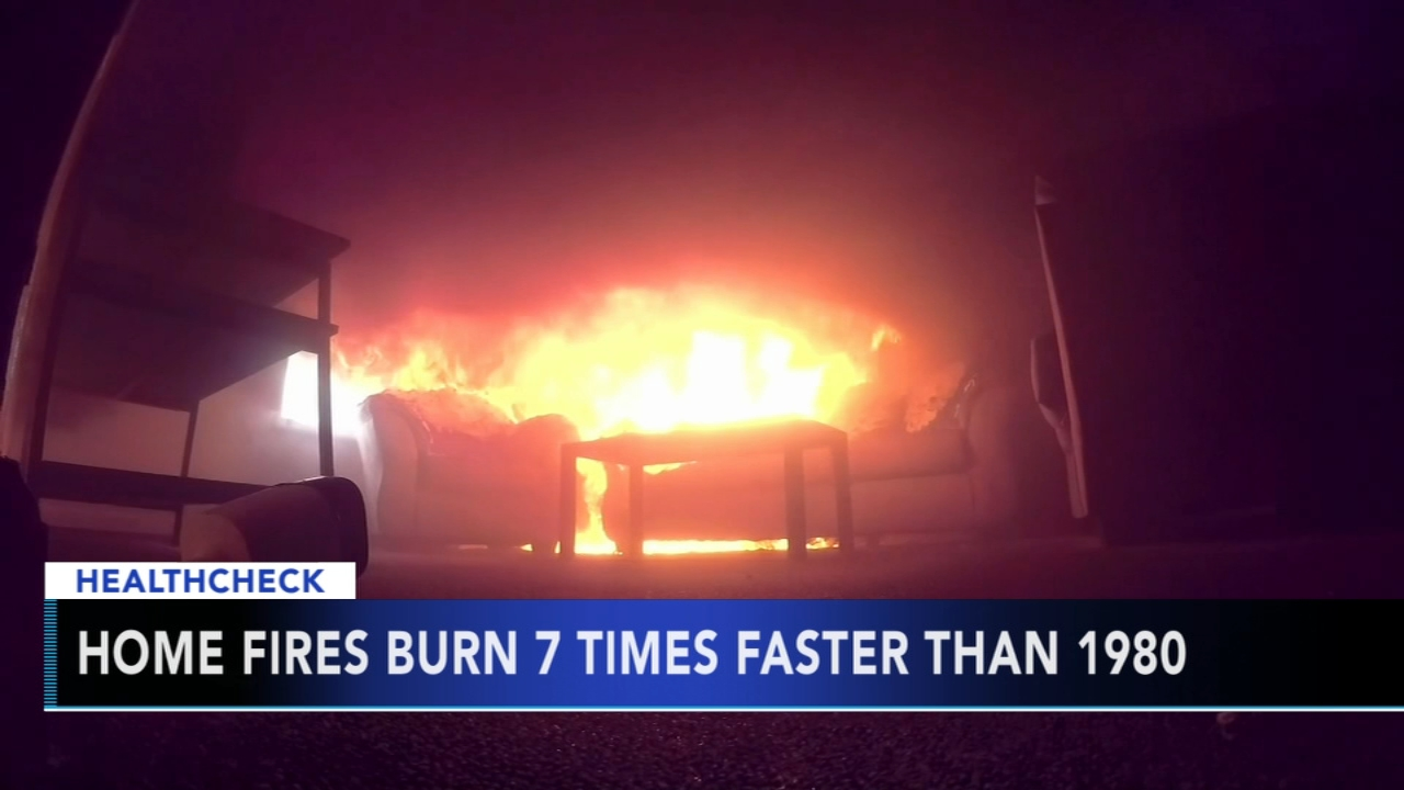 Home fires burn 7 times faster than in 1980 - Ali Gorman reports during Action News at 5pm on October 9, 2018.