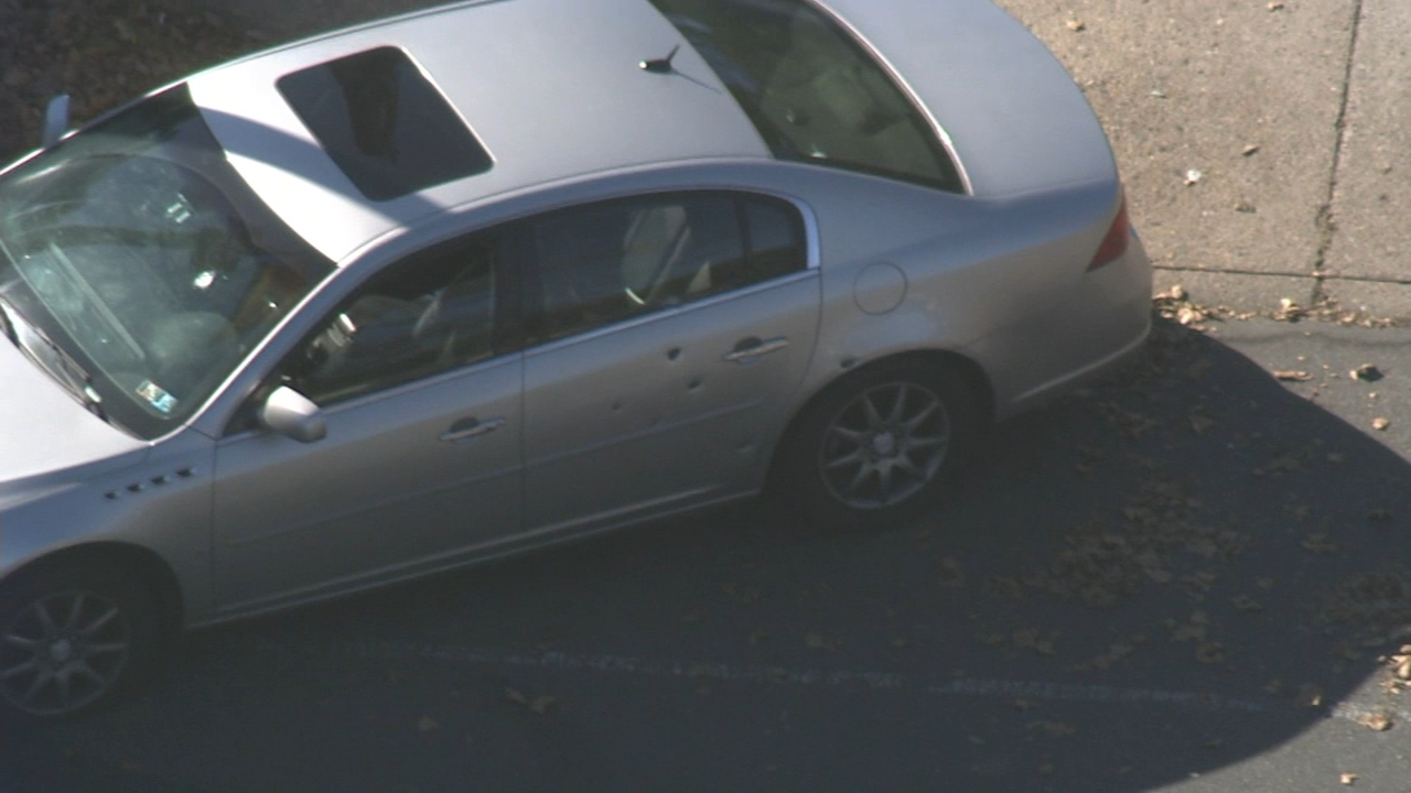Teen driver shot in Philadelphias Logan section. Watch raw video from the scene on October 12, 2018.