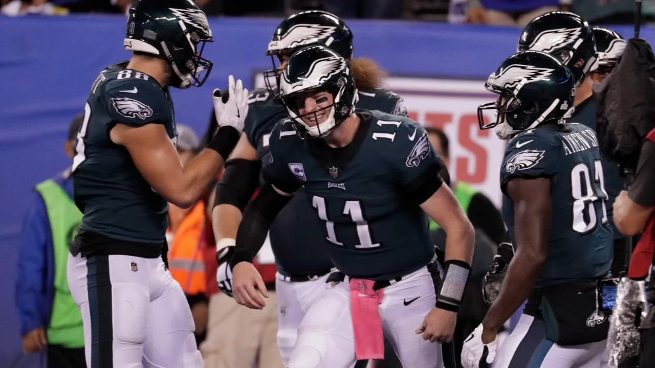 Eagles defeat Giants. Jeannette Reyes reports during Action News Mornings on October 12, 2018.