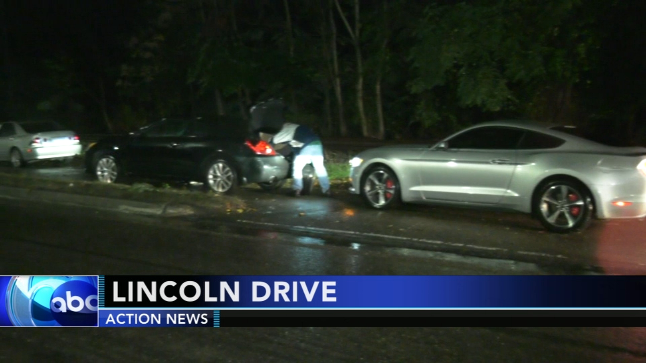 Cars suffer flat tires on Lincoln Drive. Tamala Edwards reports during Action News Mornings on October 12, 2018.