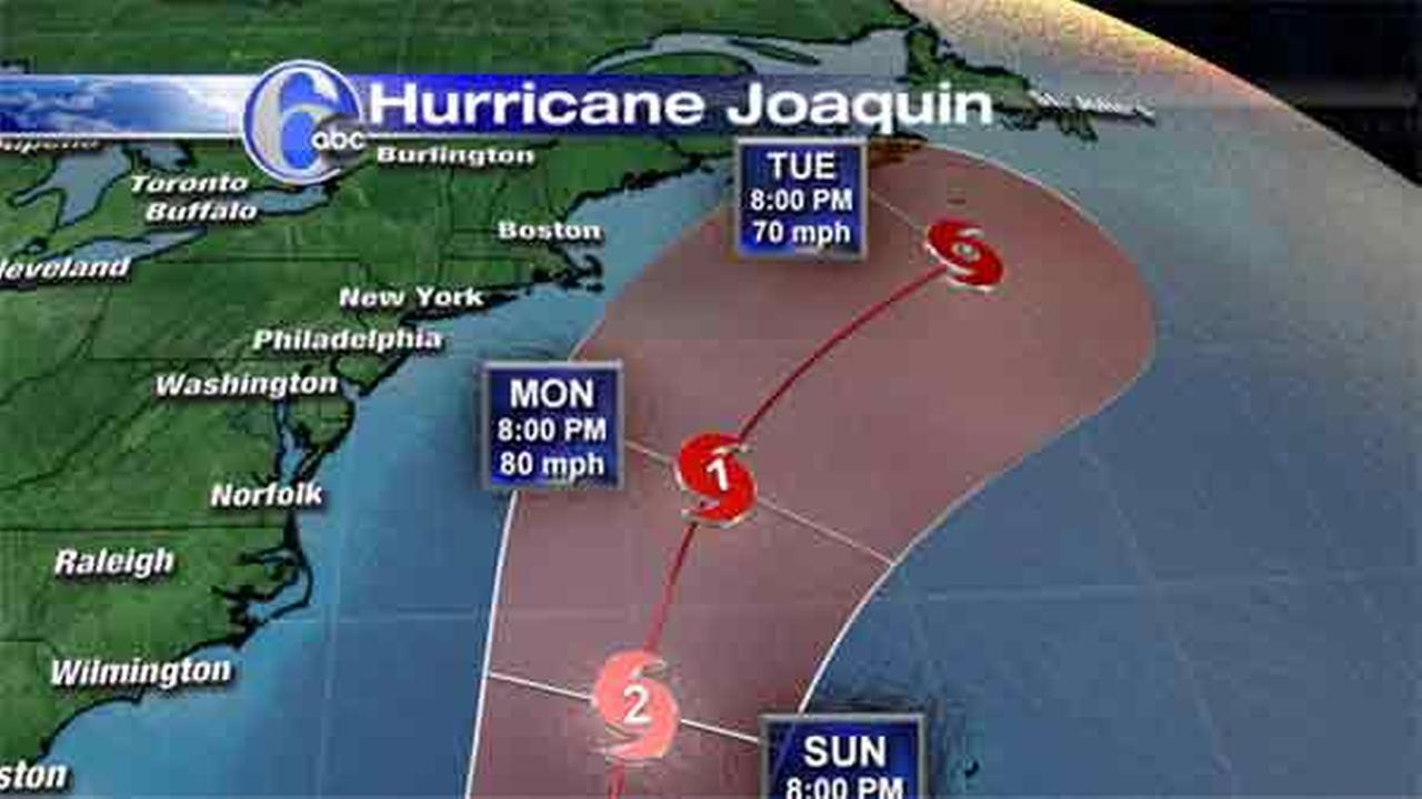Hurricane Joaquin track shifting away from shore