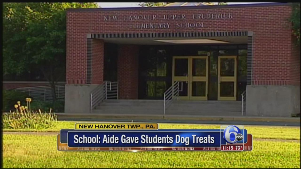 VIDEO: Aide allegedly gave students dog treats