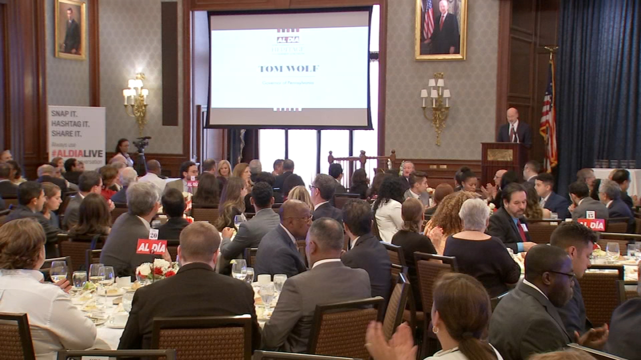 Latino leaders honored at Al Dia News luncheon. Julia Rae reports during Action News at 5 a.m. on October 13, 2018.