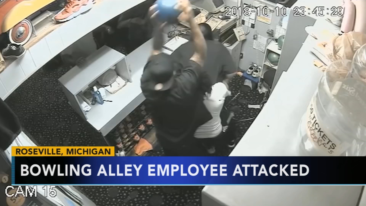 Michigan bowling alley employee assaulted with bowling ball. Gray Hall reports during Action News at 7 a.m. on October 13, 2018.